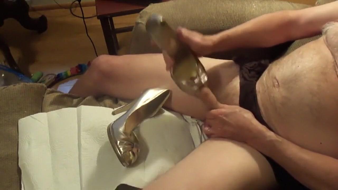 Gold Peeptoe heel fuck- part 1 Videos Xxx Teacher