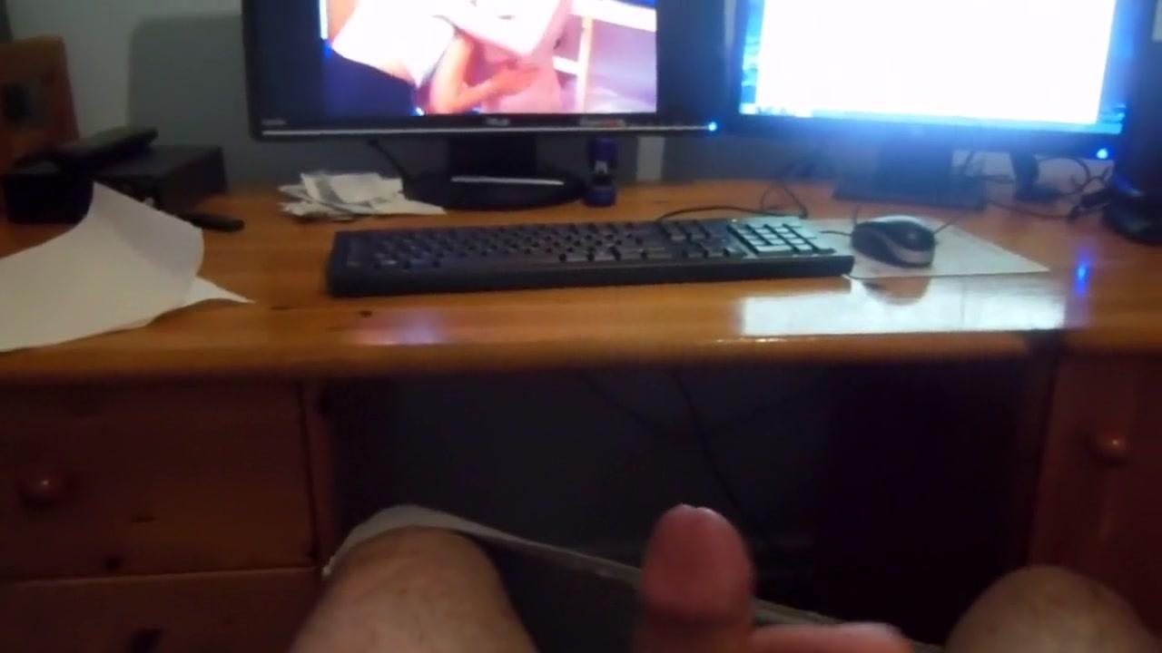 Wichsen beim Porno schauen