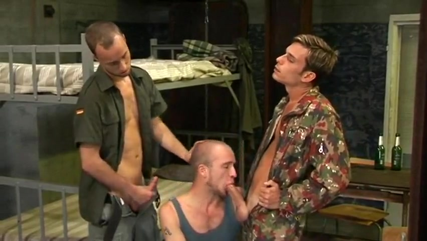 three soldiers Lezdom dyke eats babes clit and ass