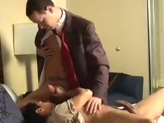 coworkers in OTC socks having pleasure Guy sticks head vagina