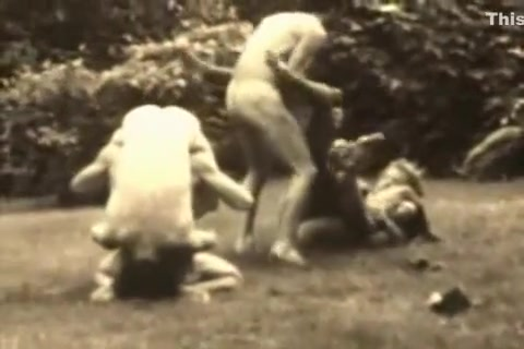 Vintage Strip Wrestle lion sex teen gril
