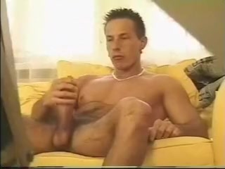 European Dick of Death Bondages white masturbate penis cumshot
