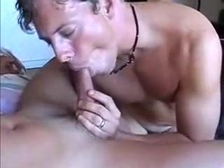 Straight men Bisexual porn 2 dicks 1 chick