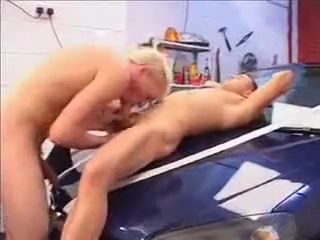 mechanic Nasty vixens take turns ass hole banged