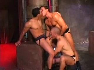 Carlos, Justin, & Remy strangled feet fetish woman