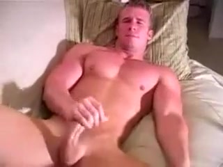 guy jerking on a sofa Man takes big cock