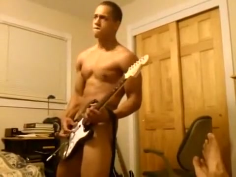 Naked Guitar Hero Beautiful Webcam Blonde Playing