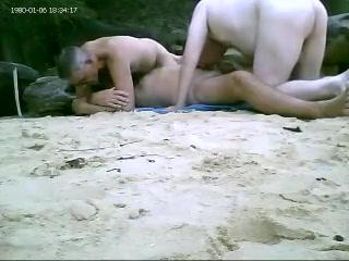 3way at beach Long term bondage