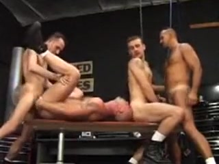 Lance Gear, Chad Hunt garage foursome sexing boobs