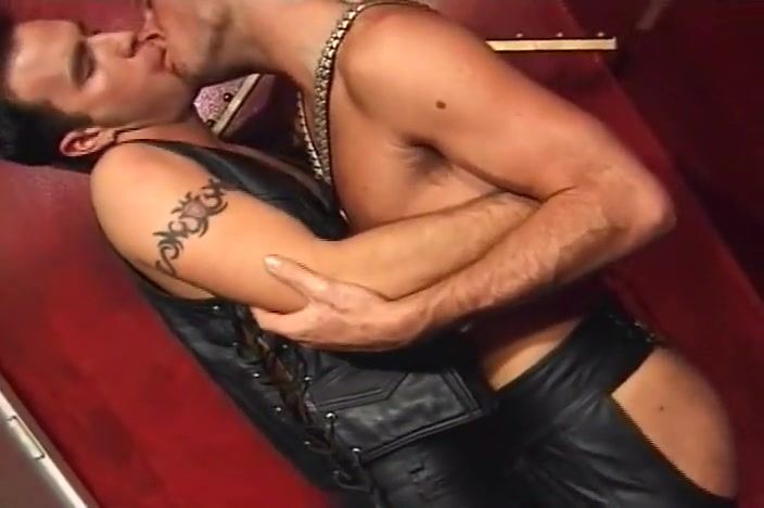 Intense Leather Anal In Private Sex Club Ass lick jerk off