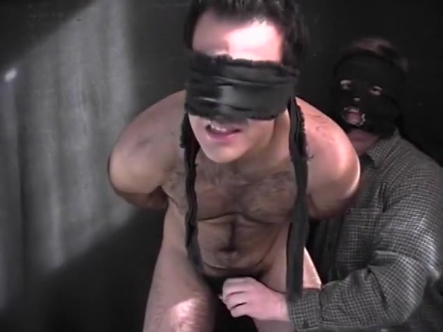 Blindfolded Stud Has Two Fingers Up Ass mature adult porn tube