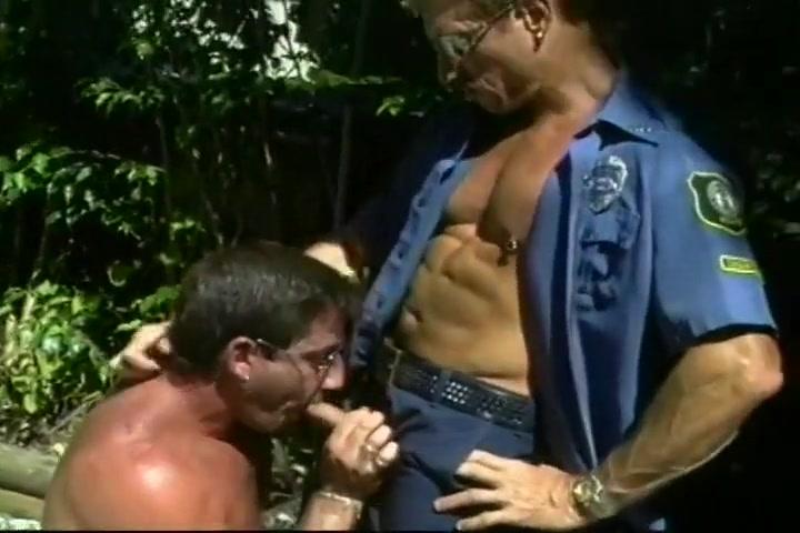 Masturbating Perv Sucks Off Two Cops milf in thong porn