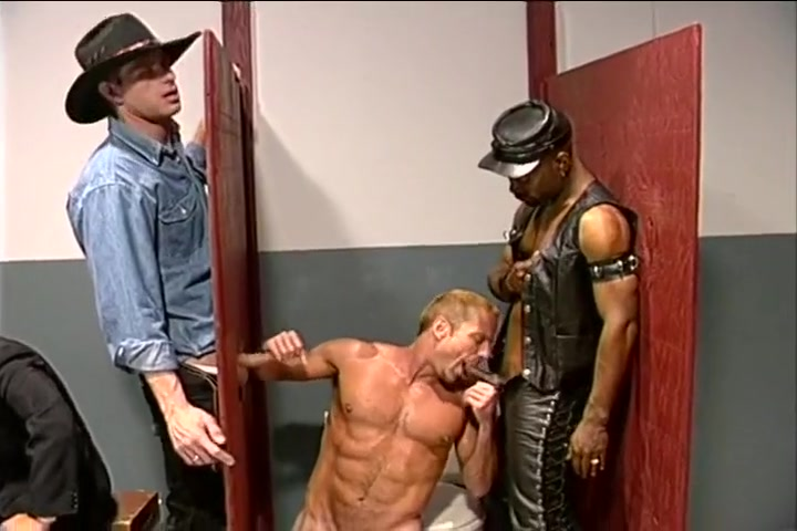 Gay Gloryhole Action with Leather Fetish where to buy adult movies