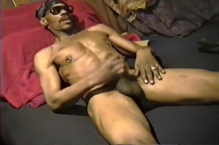 Pierced Gay Black Guy Stroking It (BD) Creeper Fam 1
