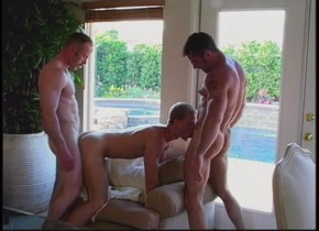 Crazy male pornstars Steve Cassidy, Clint Cooper and Bryan Archer in fabulous blowjob homo sex scene She loves playing with her wet pussy