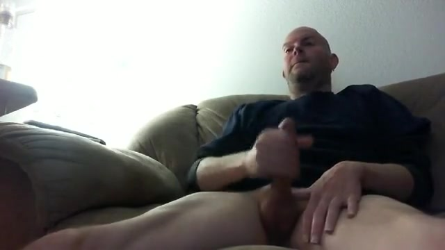 Sitting on the daybed and busting a nut 14 inch bbc