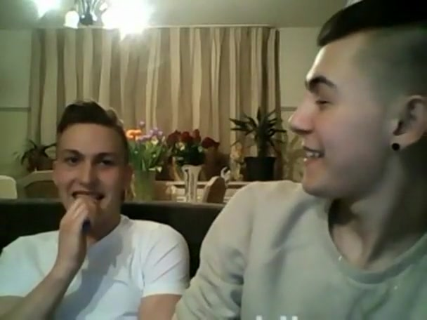 Romanian Italian Boys Have Fun On Webcam Rotating boobs