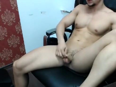 Naked Bored Guy Browsing His Smartphone sexy muscle babe fuck