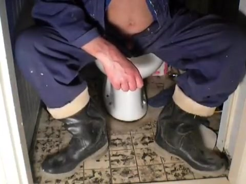 nlboots - sitting on latrine (in rubber boots) El Nino Pregnant