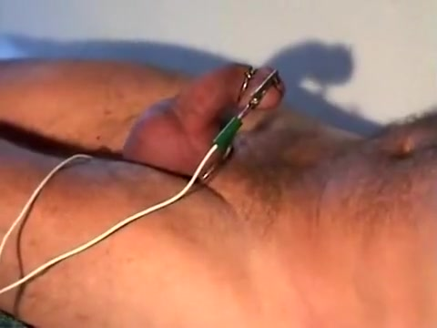 Electrostim and cum! hot black chicks ass