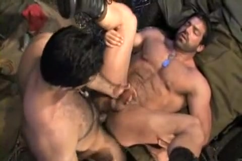 2 Hairy Muscle Military Insert cock in ass