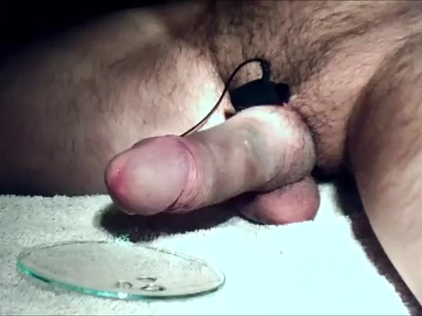 Precum milking and spunk flow with electro Bbw in dress