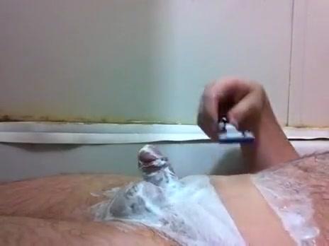 Shaving Schlong and Balls erika staxxx interracial