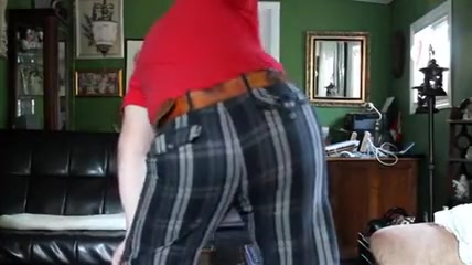 Paddled in Levis shorts Big round perky tits and ass on cuvey babe