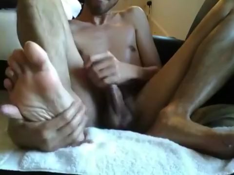 Oiled Up Feet Play & Jerk show women s breast when pregnant
