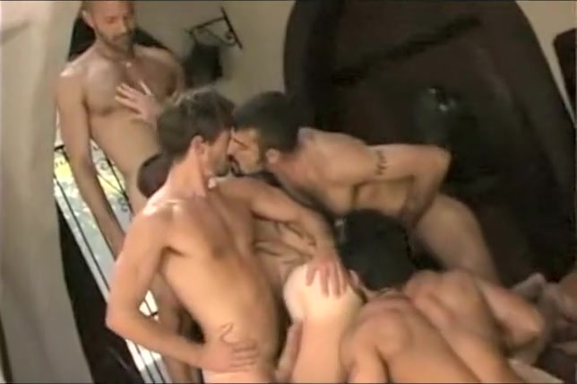 Hot interracial gay threesome Chubby football jocks