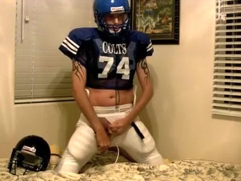 Jerking it in my football gear Unwanted penis in pussy