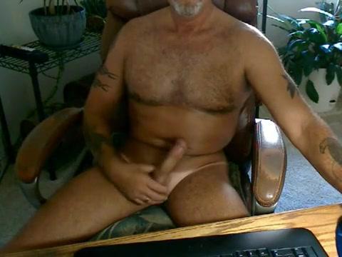 Hot dad home alone jerking Boy ass anal
