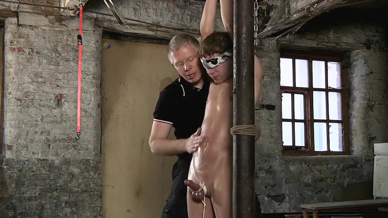 Tied Up Milked Nipple clamps and pussy hook