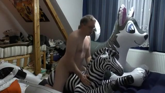 Inflatable zebra ride Free Real Porn Movies