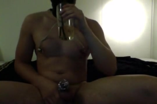 Drinking 0,5l piss for master Sexy college chicks tits