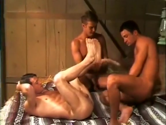 3 Hard Cowboys In The Barn star e knight lesbian threesome