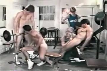 Gym Fantasy mother and daughters having sex