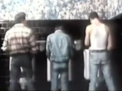 Mens Room Vintage elbow deep gay fisting