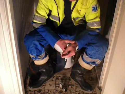 nlboots - ambulance overall & rubber boots Milf sex wife