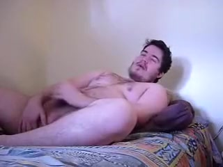 Chubby guy jerking off Handjob oral sex cumshot