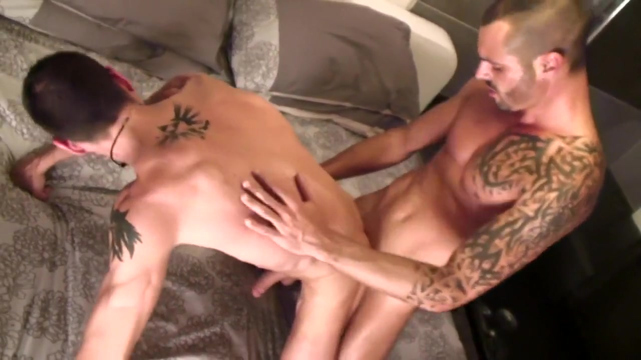 hot gays with tattooes fuck HD Nice swollen pregnant pussy