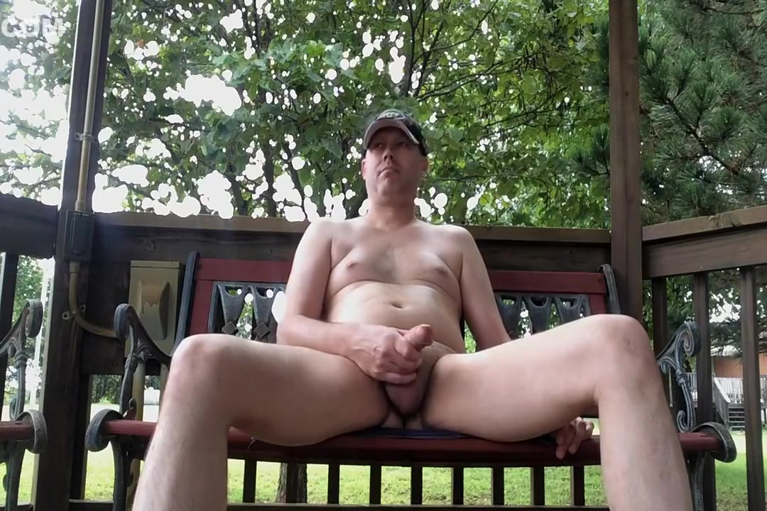 Naked dad jerks off outside peanut butter smack porn video
