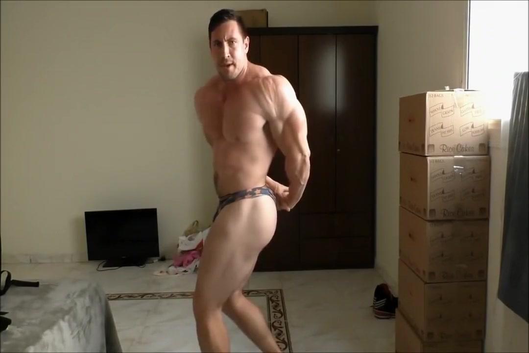 bodybuilder posing Ass beach behind bikini bootie booty butt pantie shorts