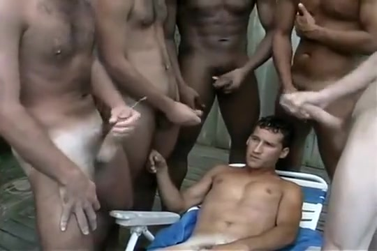 Gay Orgy Swallows a big load