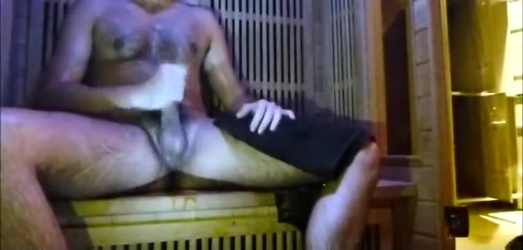 a Wank in sauna gym / au sauna Big tit bikini stranger fucks for cash