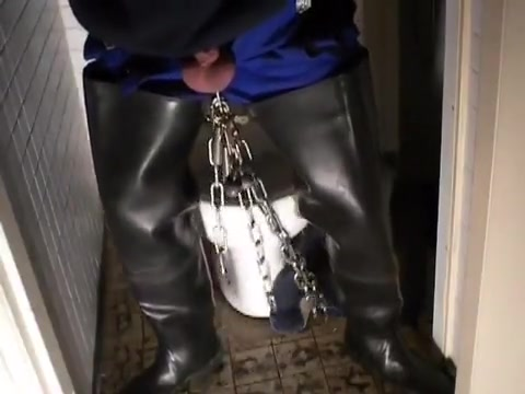 nlboots - rubber bata waders, chains & working gear Big Titi Fuck