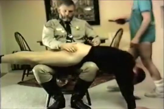 COP SPANK - Police Officers Gay Spanking first time mom lesbian