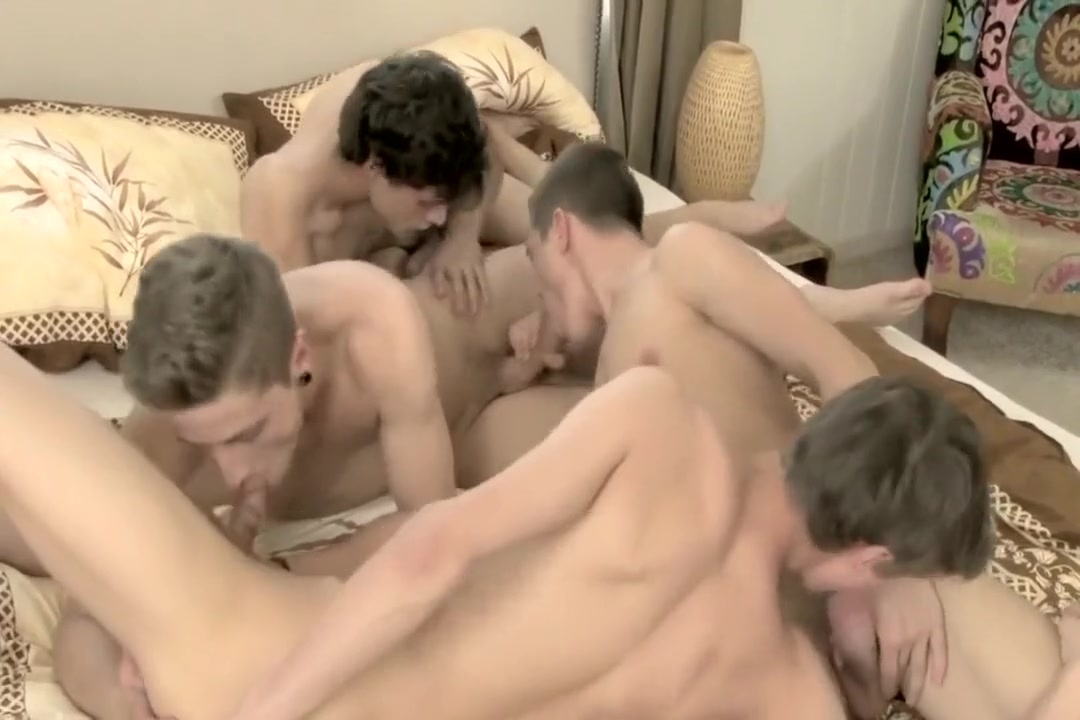 11-26 15 Four Twinks Bareback in One Bed Anal spray crown beer bong