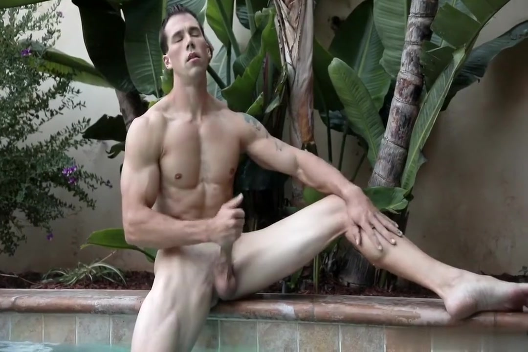Hung man in poolside Busty girl nude prank
