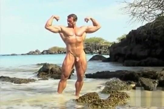 Von Legend aka Matt Davis nude beach solo Masturbate for jesus